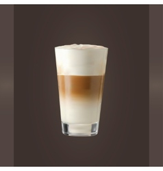 Latte glass vector