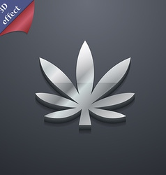 Cannabis leaf icon symbol 3d style trendy modern vector