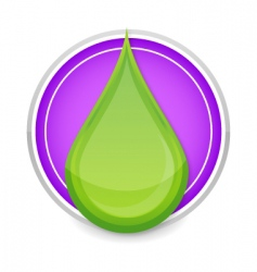 green drop icon vector image