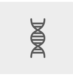 Dna thin line icon vector