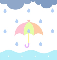 Rainy cloudy vector