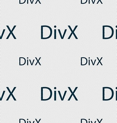 Divx video format sign icon symbol seamless vector