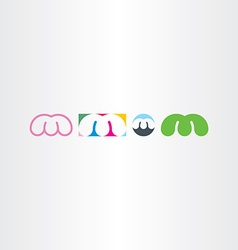 letter m logo design set icons vector image