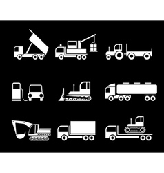 machines heavy trucks vector image