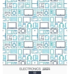 Home electronics wallpaper digital shop seamless vector