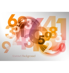 abstract shape with numbers red vector image