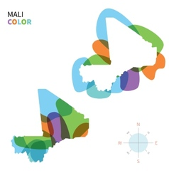 Abstract color map of mali vector