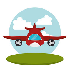 Airplane flight transport icon vector
