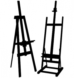 artist easel vector image vector image