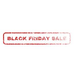 black friday sale rubber stamp vector image