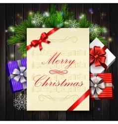 Christmas party invitation vector