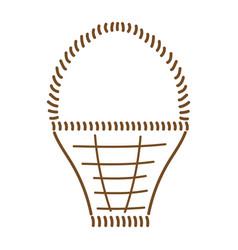 empty basket brown sign 311 vector image