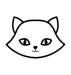 face cat breed animal mammal outline vector image vector image