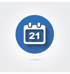 Flat icon - calendar with date vector image