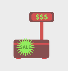 Flat icon of cash machine sale discounts vector