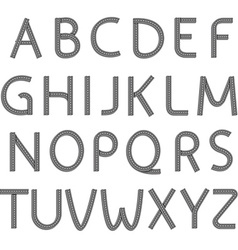 font Stock vector image vector image