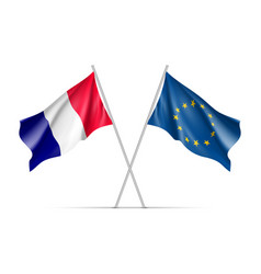 France and european union waving flags vector