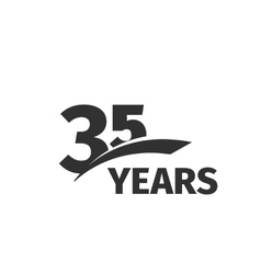 Isolated abstract black 35th anniversary logo on vector