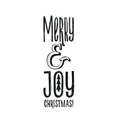 Merry christmas retro poster black and vector