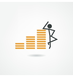 Millionaire icon vector image
