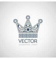 Ornamental Crown vector image vector image
