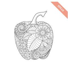 Ornate cartoon bell pepper vector