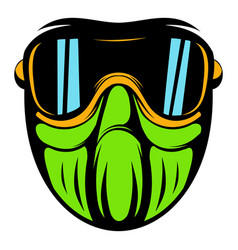 Protective mask icon cartoon vector