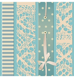 Retro lace seamless vector image vector image