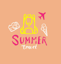 Samer travel modern hand drawn lettering vector