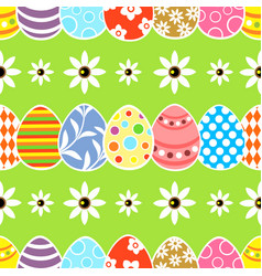 Seamless easter background card green vector