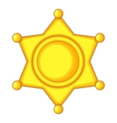 Sheriff star icon cap icon cartoon style vector