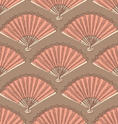 Sketch spanish fan in vintage style vector