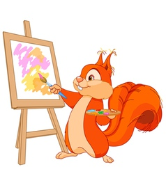 Squirrel artist vector