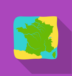 Territory of france icon in flat style isolated on vector