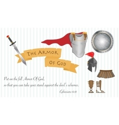 The armor of god christianity love jesus christ vector