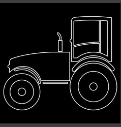 Tractor the white path icon vector