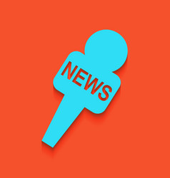 Tv news microphone sign vector