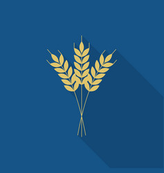 wheat or barley icon flat design for logo vector image