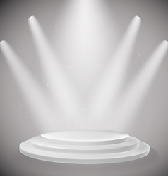 white podium vector image