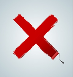 X check paint vector image
