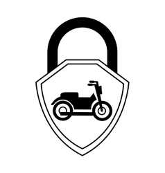 Motorcycle insurance isolated icon vector