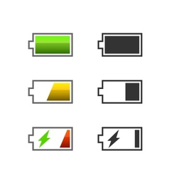 Battery charge icons vector