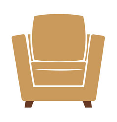 Armchair icon isolated on vector
