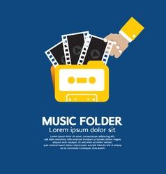 Music folder vector