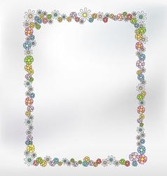 Floral Border Frame vector image