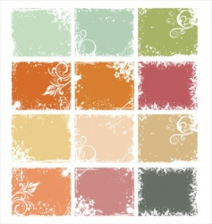 Retro pastel background vector