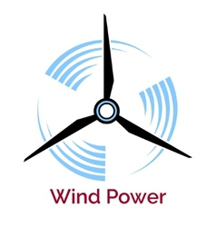 Power making wind turbine company logo vector