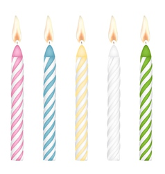 Colorful birthday candles vector
