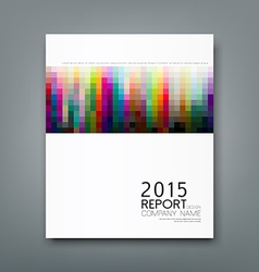 Cover report colorful square pattern design vector