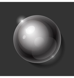 Realistic shiny transparent water drop sphere on vector